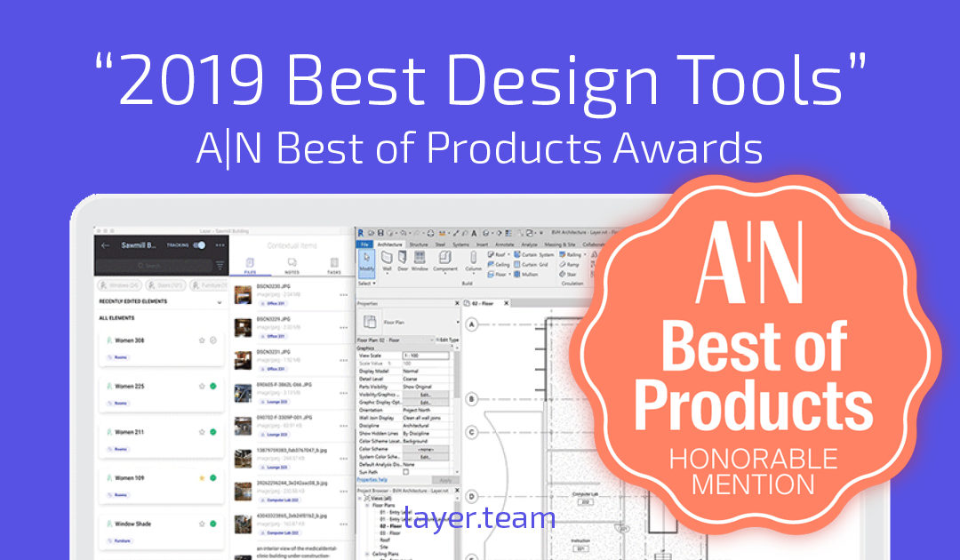 Layer wins Best of Products Award from The Architect's Newspaper