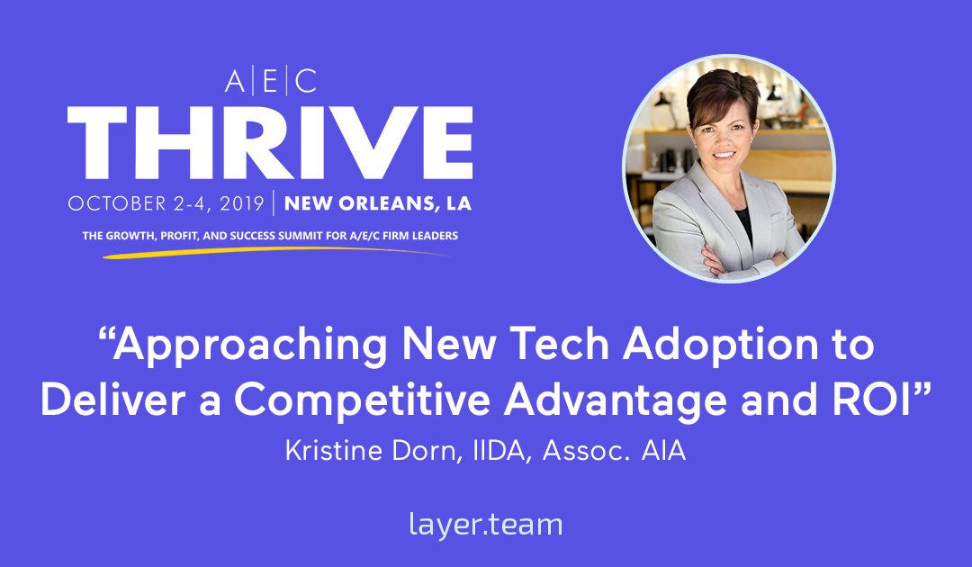 Kristine Dorn speaking at AEC Thrive Conference for Firm Leaders