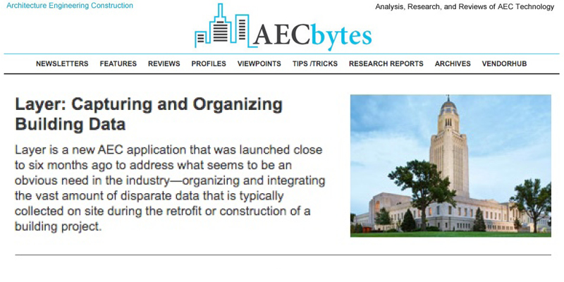 Layer Receives Rave Reviews from AEC Bytes